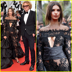 Emily Ratajkowski Wows in Peter Dundas on Cannes Red Carpet