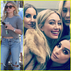 Hilary Duff Enjoys Girls' Night With Lea Michele & Friends