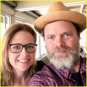 Jenna Fischer Reunites with 'The Office' Co-Star Rainn Wilson!