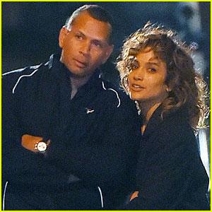 Alex Rodriguez Visits Jennifer Lopez on 'Shades of Blue' Set!