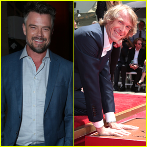 Josh Duhamel Supports Director Michael Bay at Handprint Ceremony in Hollywood