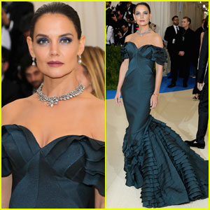 Katie Holmes Wears Pal Zac Posen's Design at Met Gala 2017