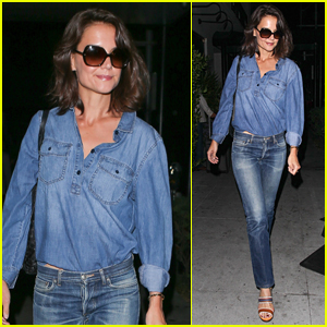 Katie Holmes Rocks Denim on Denim in Beverly Hills!