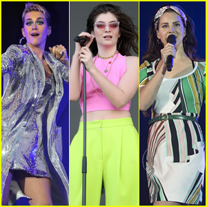Katy Perry, Lorde, & Lana Del Rey Rock Out at Big Weekend Music Festival in England!