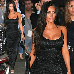 Kim Kardashian Is Glowing in Form-Fitting Dress for 'WWHL'
