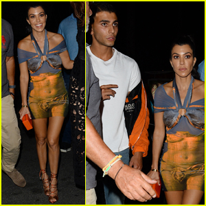 Kourtney Kardashian & Younes Bendjima Hit Up Cannes Club For Late Night Fun!