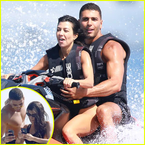 Kourtney Kardashian & Younes Bendjima Jet Ski in Cannes