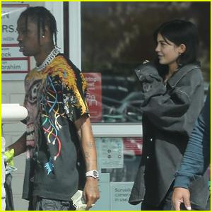 Kylie Jenner Spends the Day With Rumored Boyfriend Travis Scott