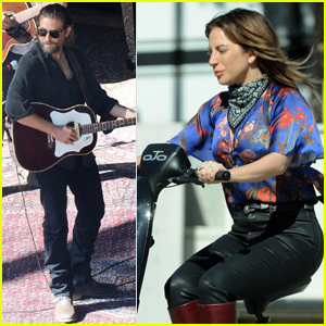 Bradley Cooper Rocks Out on 'A Star Is Born' Set With Lady Gaga