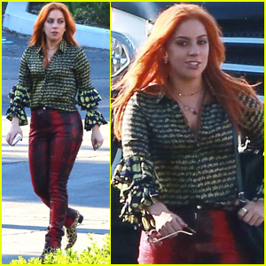 Lady Gaga Rocks Red Hair While Filming 'A Star Is Born'