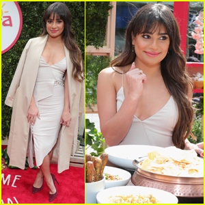 Lea Michele Stops to Share a Meal in the Middle of Her Crazy Schedule!