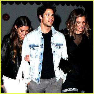 Lea Michele Third Wheels with Darren Criss & His Girlfriend