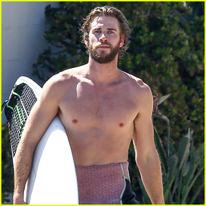 Liam Hemsworth Goes Shirtless for Afternoon Surfing Sesh!