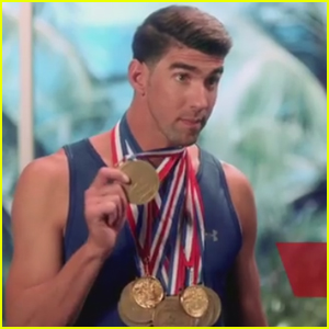 Michael Phelps Takes on Dwayne Johnson in 'Baywatch' Challenge - Watch Now!