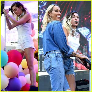 Miley & Noah Cyrus Sing 'Happy Birthday' to Their Mom at Wango Tango - Watch!