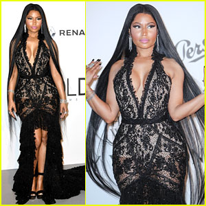 Nicki Minaj Looks So Fierce with Long Hair at amfAR Gala!