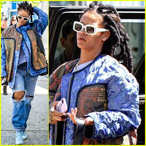 Rihanna Films Re-Shoots for 'Ocean's Eight' in Brooklyn