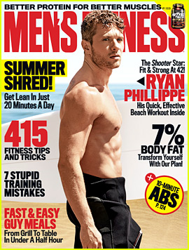 Shirtless Ryan Phillippe Hits the Beach for 'Men's Fitness' Cover!