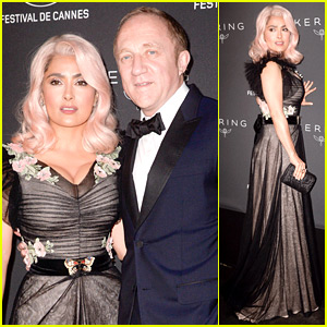 Salma Hayek Wears a Pink Wig at Cannes Film Festival Event