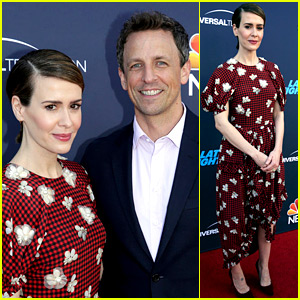 Sarah Paulson Supports Seth Meyers at 'Late Night' FYC Event