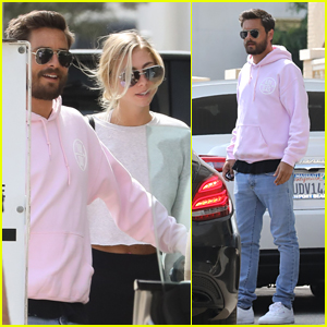 Scott Disick Hangs Out with Mystery Woman in Beverly Hills