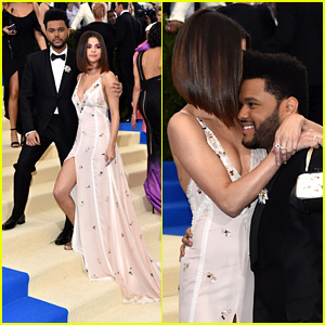 Selena Gomez Embraces The Weeknd During Their Red Carpet Debut at Met Gala 2017!