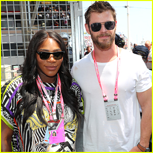 Serena Williams Joins Chris Hemsworth at Formula 1 World Championship Grand Prix in Monaco!