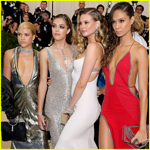Sofia Richie, Sistine Stallone, & Joan Smalls Serve Looks in Topshop at Met Gala 2017!
