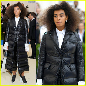 Solange Knowles Wears Chic Puffer Jacket to Met Gala 2017