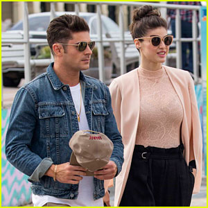 Zac Efron & Alexandra Daddario Visit Bondi Beach Lifeguard Team After Addressing Romance Rumors