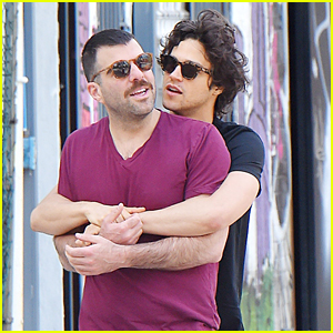 Zachary Quinto & Boyfriend Miles McMillan Cozy Up in NYC