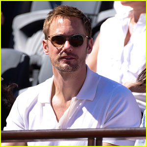 Alexander Skarsgard Checks Out French Open Women's Final