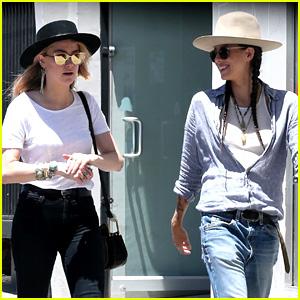 Amber Heard Hangs Out with Her Ex Tasya van Ree