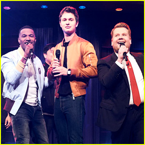Jamie Foxx, Ansel Elgort, & James Corden Battle in a Riff-Off!