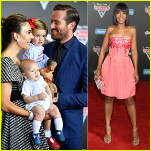 Armie Hammer Brings His Adorable Kids to the 'Cars 3' Premiere!