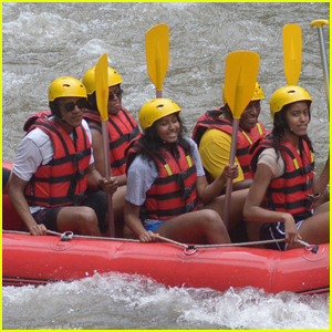 Barack Obama & Family Go White Water Rafting on Bali Vacation!