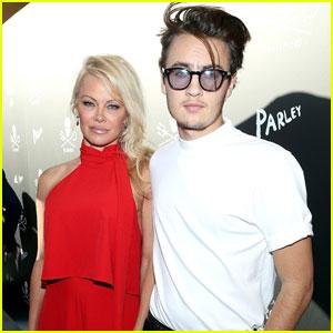 Model Brandon Lee Hangs With Mom Pamela Anderson After 21st Birthday in Vegas