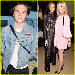 Brooklyn Beckham Mingles At Kate Moss' Obsessed Calvin Klein Fragrance Launch!
