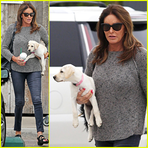 Caitlyn Jenner Takes Her New Puppy Grocery Shopping!