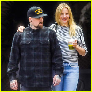 Cameron Diaz & Benji Madden Show Some PDA After Lunch