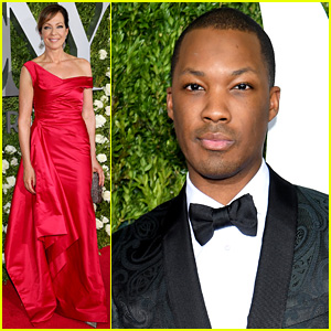 Corey Hawkins Suits Up at the Tonys with Co-Star Allison Janney!