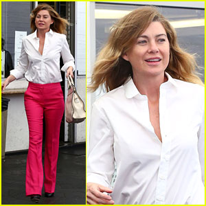 Ellen Pompeo Reps Her Love for Pink Pants & 'Wonder Woman'