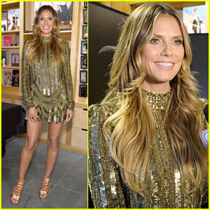 Heidi Klum Shows Off Her Legs at Book Signing in NYC