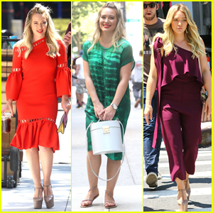 Hilary Duff Brightens Up the Set of 'Younger' in NYC