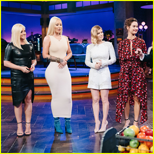 James Corden Fires Fruit At Lily James, Iggy Azalea & Kate Mara With 'Flinch' - Watch Here!