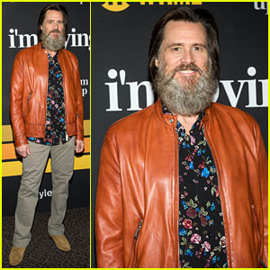 Jim Carrey Brings Long Beard to 'I'm Dying Up Here' Premiere