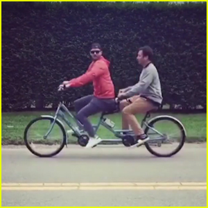 Jimmy Fallon & Justin Timberlake Go Bro Biking - Watch Here!