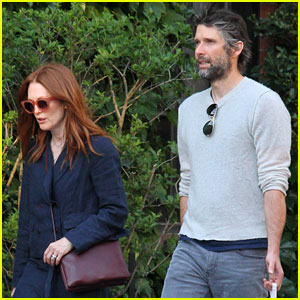Julianne Moore & Husband Bart Freundlich Chat it Up in NYC