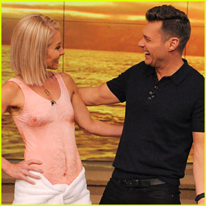 Kelly Ripa Flaunts Dad-Bod Swimsuit in Funny 'Live' Moment - Watch Now!