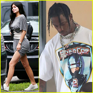 Kylie Jenner Joins Travis Scott on Set of His Latest Music Video